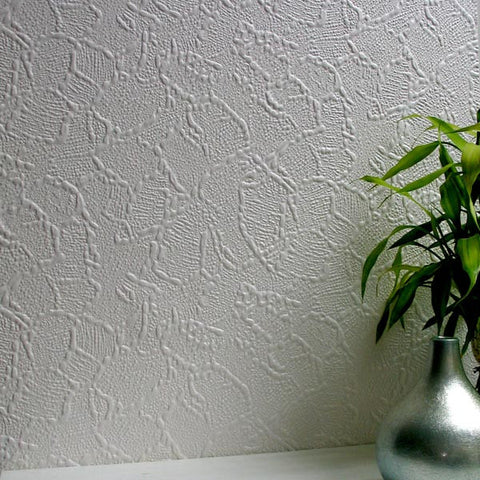 Frazer Paintable Supaglypta Wallpaper design by Brewster Home Fashions