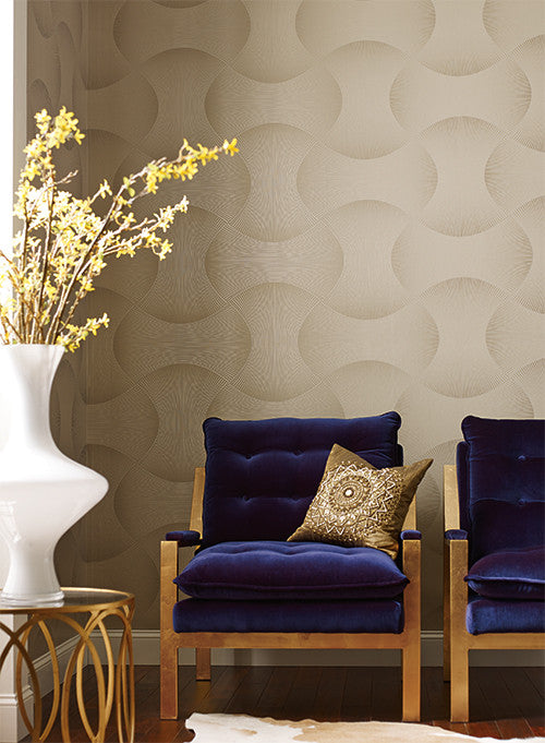 Freestyle Wallpaper in Off White design by Candice Olson for York Wallcoverings