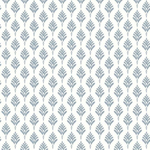 French Scallop Wallpaper in Blue from the Water's Edge Collection by York Wallcoverings