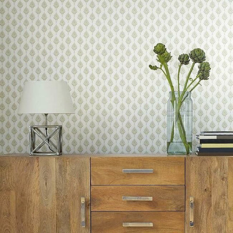 French Scallop Wallpaper in Sand from the Water's Edge Collection by York Wallcoverings