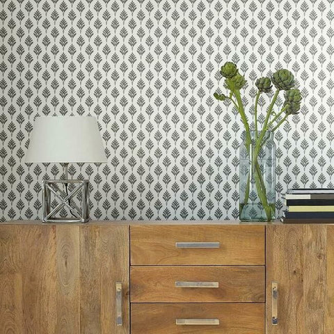 French Scallop Wallpaper in Smoke from the Water's Edge Collection by York Wallcoverings