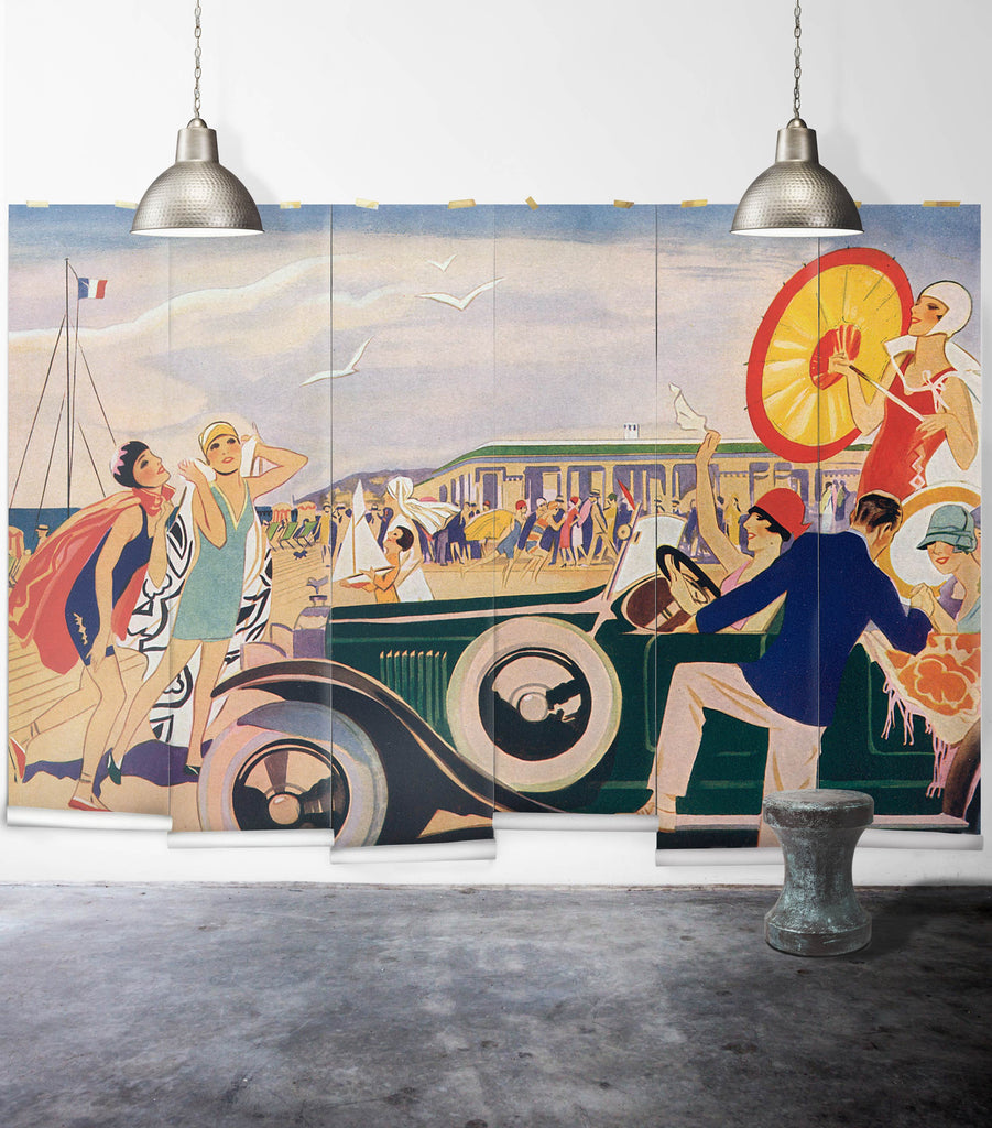 Sample French Riviera Wall Mural from the Erstwhile Collection by Milton & King