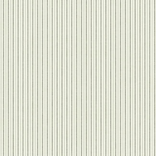 French Ticking Wallpaper in Charcoal and Black from Magnolia Home Vol. 2 by Joanna Gaines