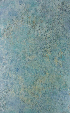 Fresco Wallpaper in Teal Metallic from the Enchanted Gardens Collection by Osborne & Little