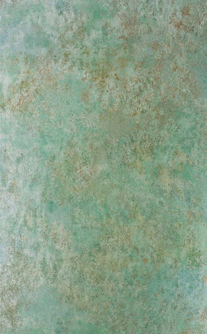 Fresco Wallpaper in Verdigris Metal from the Enchanted Gardens Collection by Osborne & Little