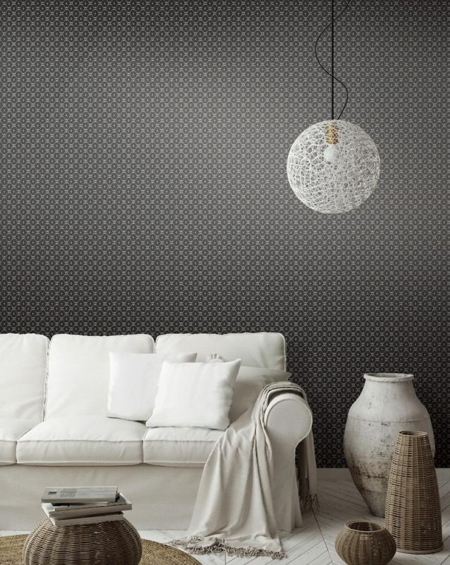 Fretwork Wallpaper from the Tea Garden Collection by Ronald Redding for York Wallcoverings
