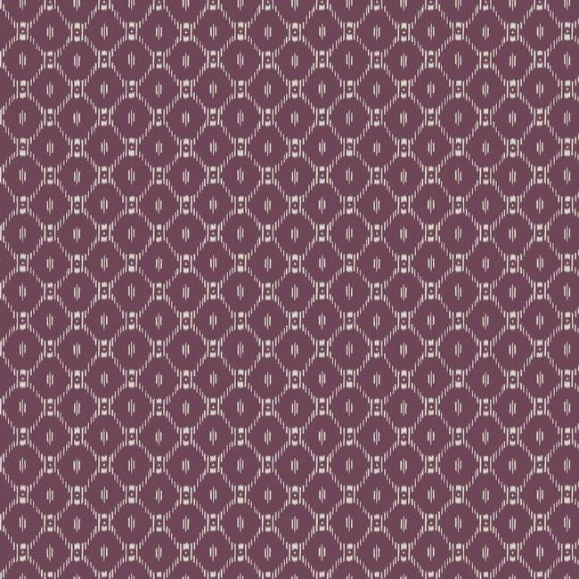 Fretwork Wallpaper in Purple from the Tea Garden Collection by Ronald Redding for York Wallcoverings