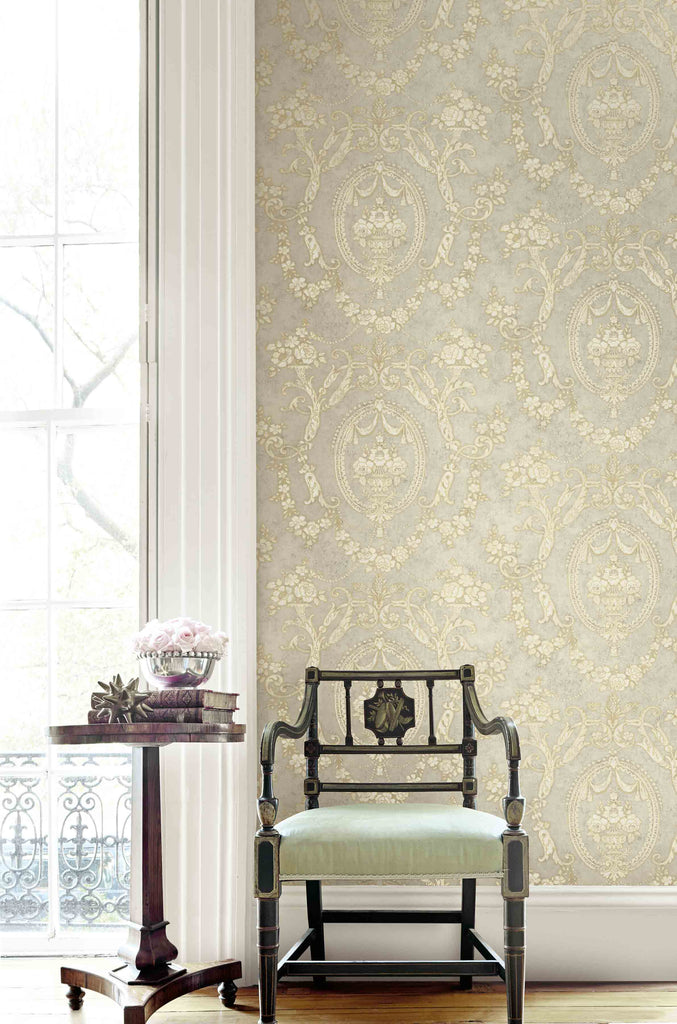 Frills Cameo Wallpaper from the Vintage Home 2 Collection by Wallquest