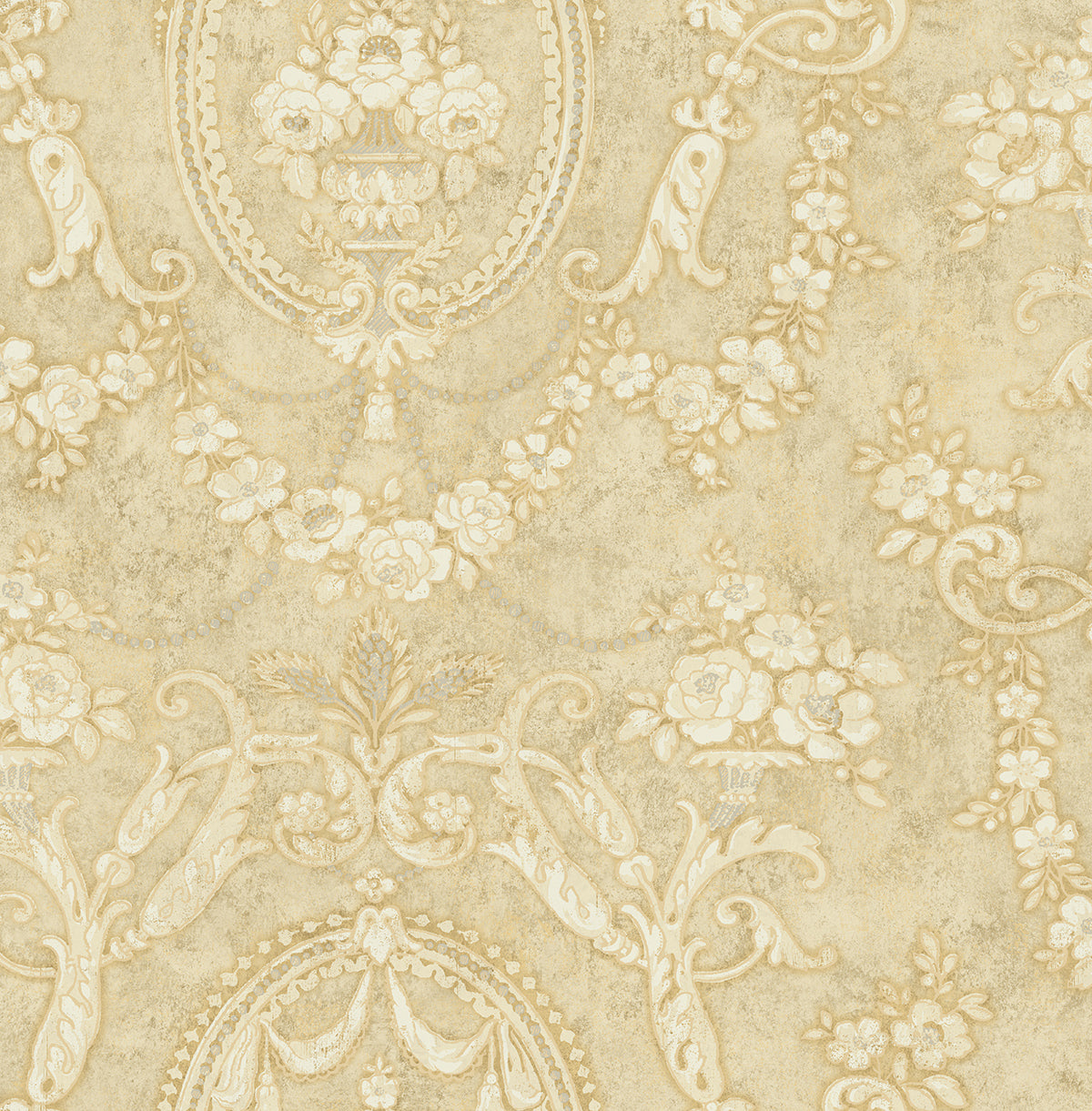 Frills Cameo Wallpaper in Antique Luster from the Vintage Home 2 ...