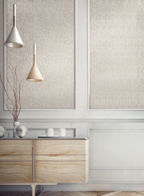 Frost Wallpaper from the Terrain Collection by Candice Olson for York Wallcoverings