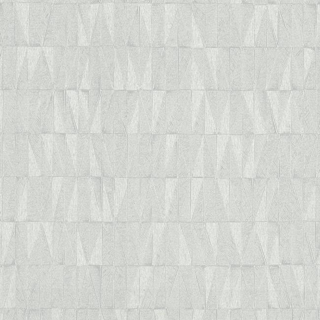 Sample Frost Wallpaper in Grey and Ivory from the Terrain Collection by Candice Olson for York Wallcoverings