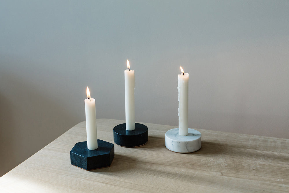 Marble Candle Holder in Various Colors & Shapes design by Fort Standard