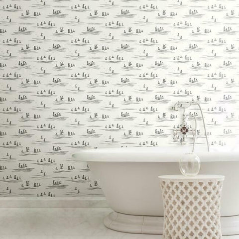 Full Sails Wallpaper in Neutral from the Water's Edge Collection by York Wallcoverings