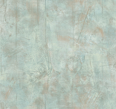 Fulton Texture Wallpaper in Green and Tan from the Metalworks Collection by Seabrook Wallcoverings