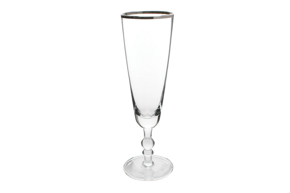 Camden Champagne Flute with Platinum RimCamden Champagne Flute with Platinum Rim design by Canvas