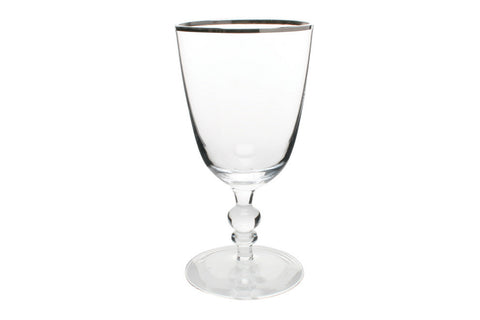 Willow Wine Goblet w/ Platinum Rim design by Canvas