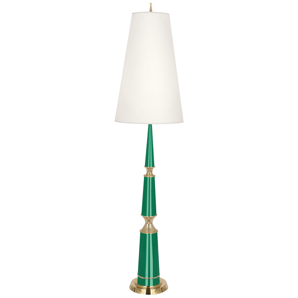 Versailles Floor Lamp in Various Finishes w/ Modern Brass Accents design by Jonathan Adler