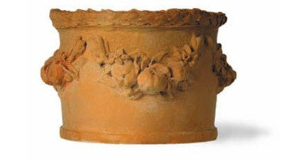 Garland Planter in Terracotta Finish design by Capital Garden Products