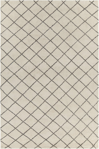 Gaia Collection Hand-Knotted Area Rug in Cream & Brown design by Chandra rugs