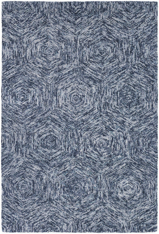 Galaxy Collection Hand-Tufted Area Rug in Blue & Ivory