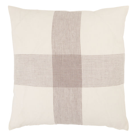 Pembroke Stripes Pillow in White & Gray