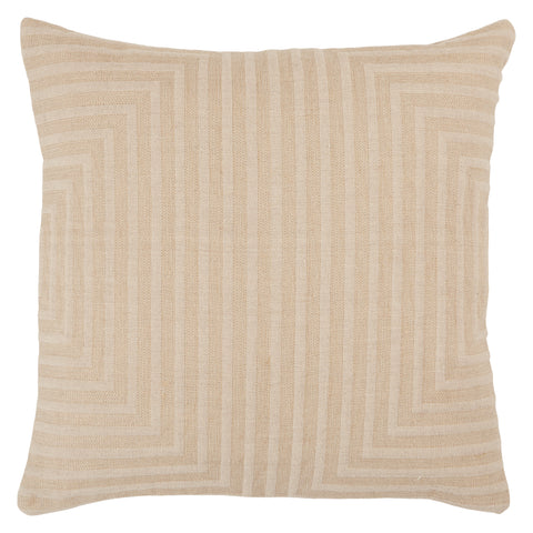 Neutra Geometric Pillow in Light Taupe
