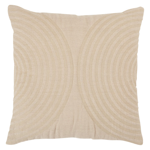 Lautner Geometric Pillow in Light Taupe