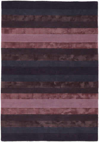 Gardenia Collection Hand-Tufted Area Rug in Pink, Charcoal, & Brown