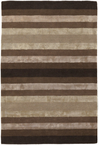 Gardenia Collection Hand-Tufted Area Rug in Taupe & Brown design by Chandra rugs