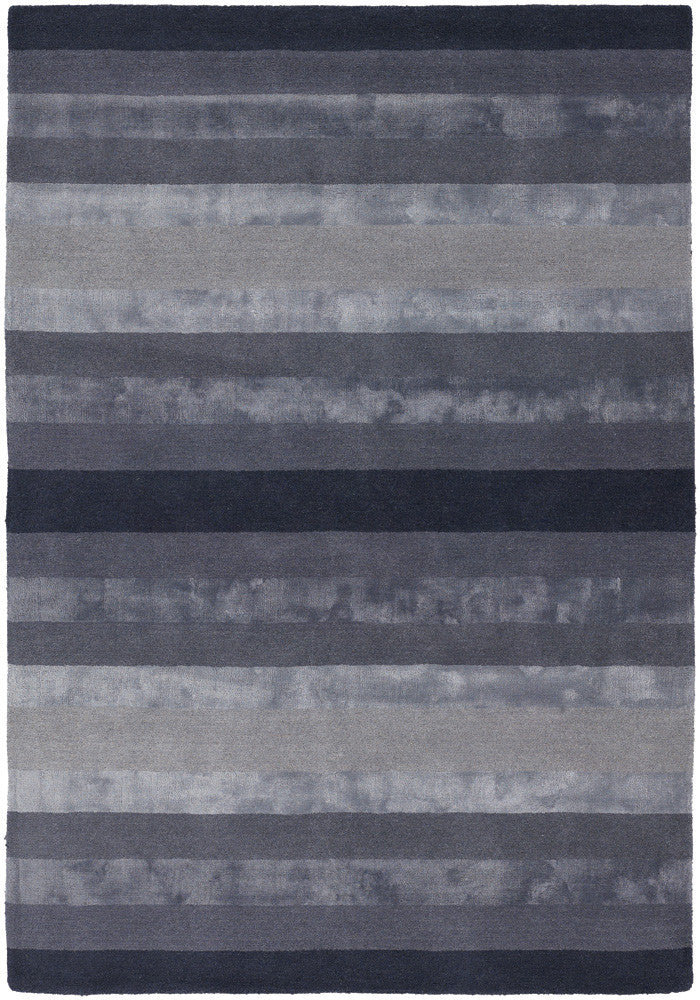 Gardenia Collection Hand-Tufted Area Rug in Charcoal & Grey
