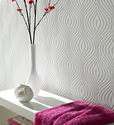 CURVY Effect Wallpaper Print design by Graham and Brown