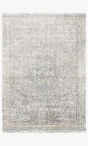 Gemma Rug in Silver by Loloi