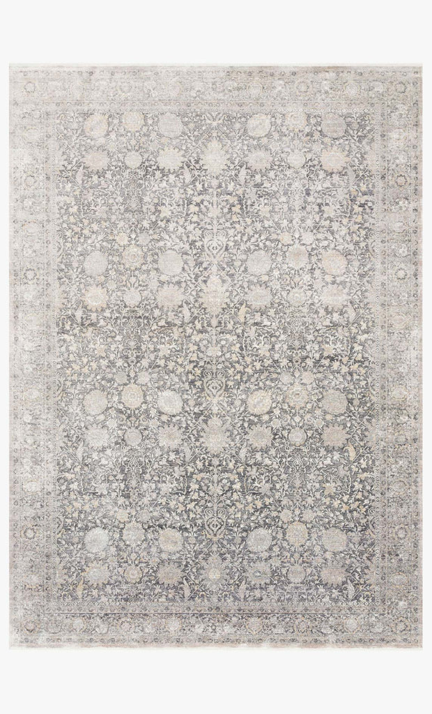 Gemma Rug in Charcoal & Sand by Loloi