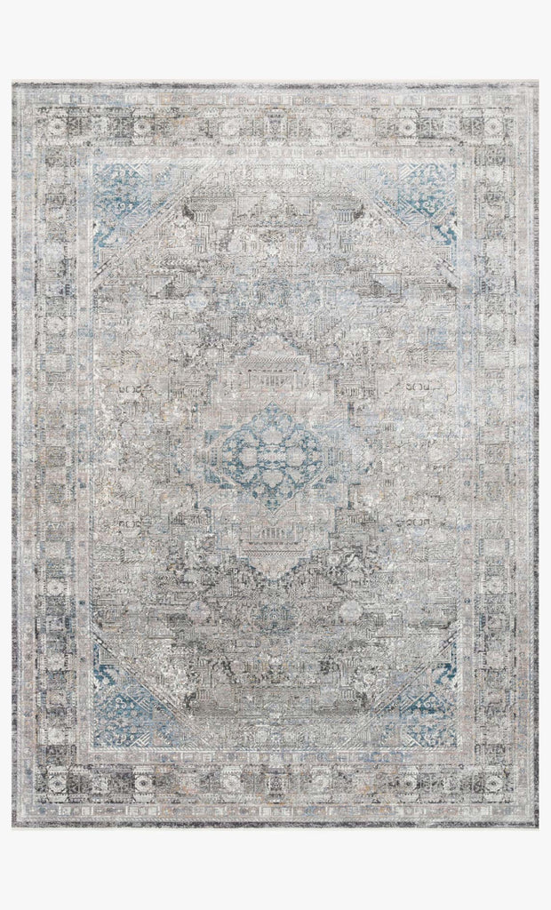 Gemma Rug in Silver & Blue by Loloi