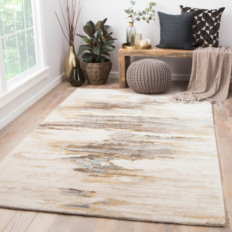 Ryenn Abstract Rug in Bungee Cord & Tidal Foam design by Jaipur Living