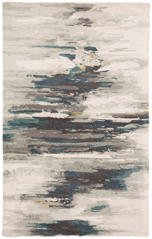 Ryenn Abstract Rug in Gray Morn & Dove design by Jaipur