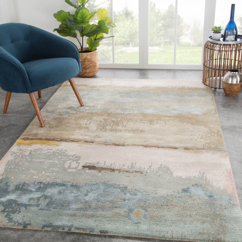 Juna Abstract Rug in Laurel Oak & Feather Gray design by Jaipur