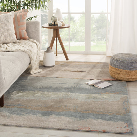 Juna Handmade Abstract Gray/ Blush Rug by Jaipur Living