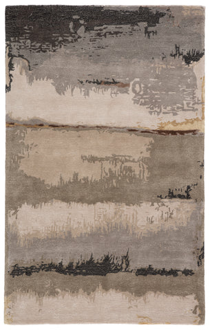 Juna Handmade Abstract Black/ Taupe Rug by Jaipur Living