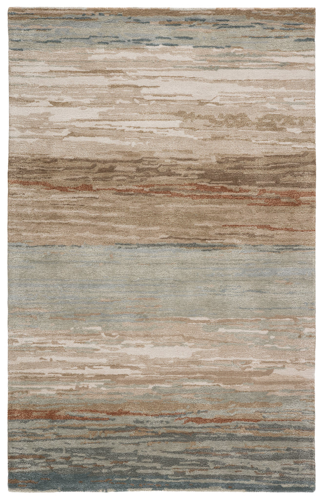 Mondrian Handmade Abstract Tan/ Light Gray Rug by Jaipur Living