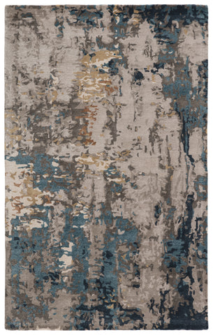 Segall Handmade Abstract Dark Blue/ Gray Rug by Jaipur Living