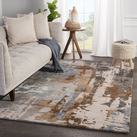 Matcha Handmade Abstract Tan/ Gray Rug by Jaipur Living