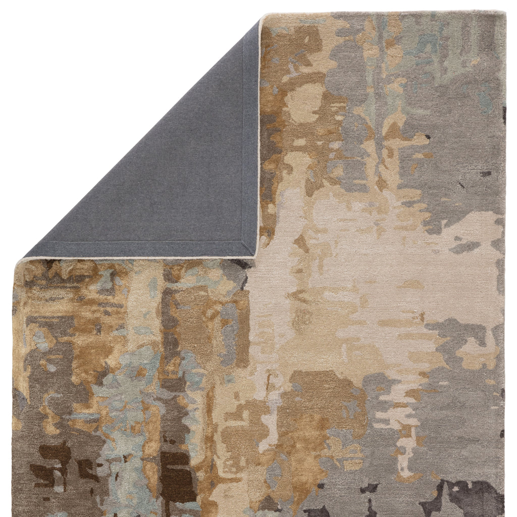 Matcha Handmade Abstract Gray/ Gold Rug by Jaipur Living