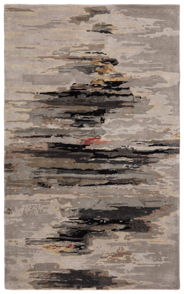 Ryenn Handmade Abstract Gray/ Black Rug by Jaipur Living