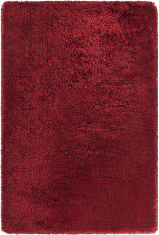 Giulia Collection Hand-Woven Area Rug in Red