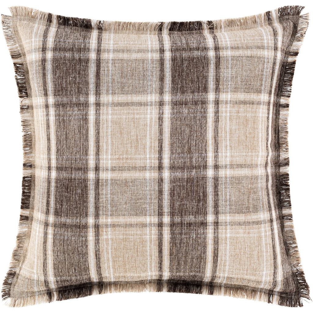 Glenwood GNW-002 Woven Pillow in Camel & Wheat by Surya