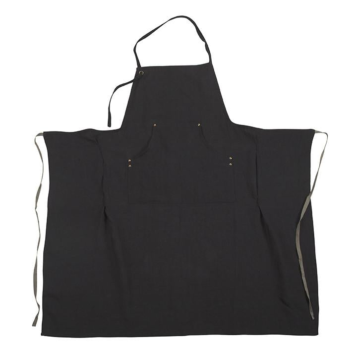 Grand Apron in Faded Black