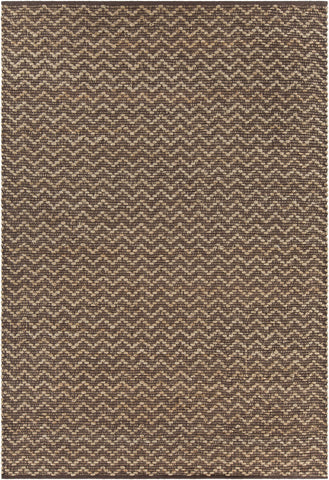 Grecco Collection Hand-Woven Area Rug in Brown & Tan