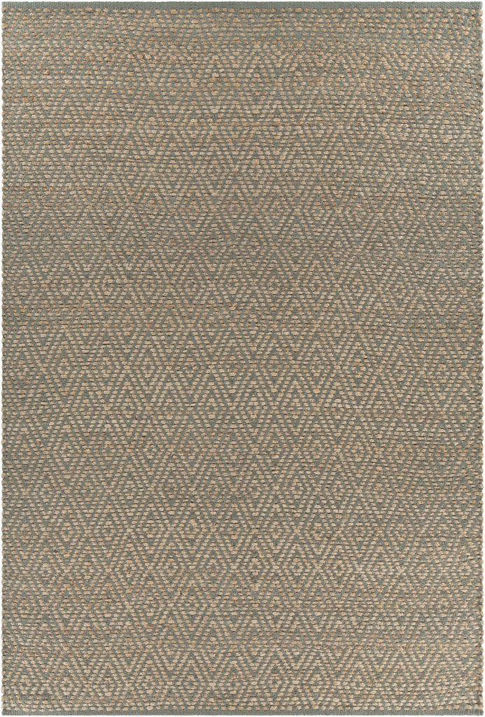 Grecco Collection Hand-Woven Area Rug in Grey & Tan