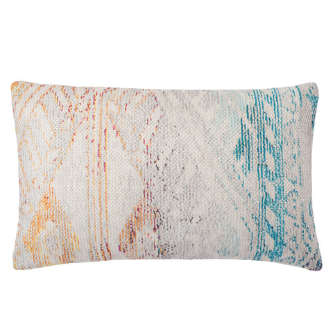 Tribe Indoor/ Outdoor Tribal Multicolor & White Pillow